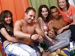 Naked dancing and insane gang soiree sex