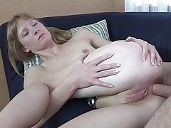 Molten platinum-blonde hardcore cutie gets crammed in the tail