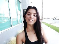 Latina teenage jizzed in pov