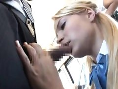Girl give BBJ & got fucked to multiple climax on bus