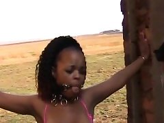 Superb african teenie with cute milk cans got her body manhandled
