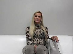 Hot superstar audition and cumshot