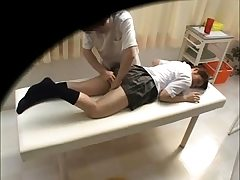 Asian schoolgirl in uniform upskirt
