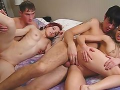 4 college gals have fun undress poker and fuck