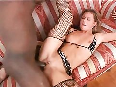 Horny blonde hottie gets torn up by big black cock