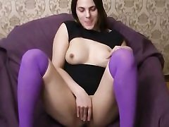 Hot dark haired bitch gets cumload on her face