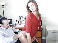 Horny guy is stretching her brown-eye wide and is eating it out