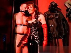 Bald man and two super hot damsels about to get nasty with each other